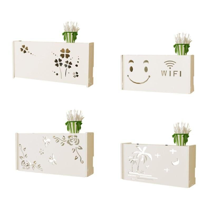 Sans fil Wifi routeur boîte de rangement PVC panneau cadre montage mural support câble stockage grande taille décoration de la maison
