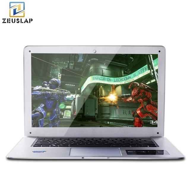 ZEUSLAP-A8 14 inch 8 ГБ оперативной памяти + 120 ГБ SSD + 1000 ГБ HDD ультратонкий Intel Quad Core быстрая загрузка Windows 7/10 системы ноутбук