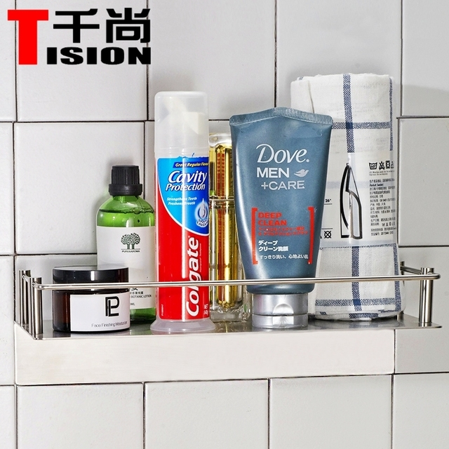 Simple Bathroom Shelves NO DRILL Suction Toothpaste And Toothbrush Holder