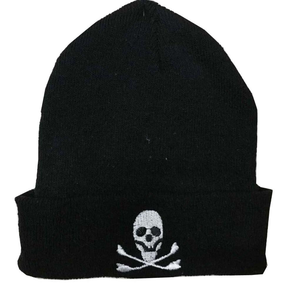 Free Shipping 2017 New Hip Hop Male Winter Black  Skull Bone Beanies Hats For Mens