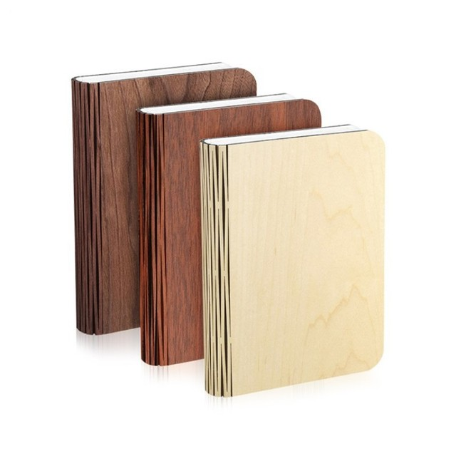Portable Wooden Book Folding Night Light