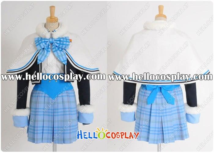Smile Shooter First Ticket Cosplay School Girl Winter Unfiorm Akiyama Mayu Costume H008