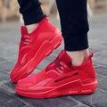 Los hombres Zapatos Casuales Zapatos de Deporte de Lona Zapatos Para Caminar Pisos Invierno Transpirable Cesta Entrenadores Zapatillas Inferiores Rojos Zapatillas Hombre