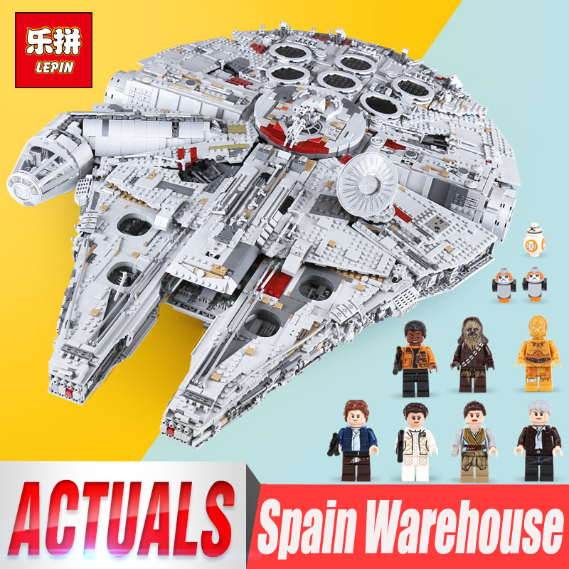 Lepin 05132 Star Millennio Modello Falcon Ultimate collector legoings 75192 Wars building blocks mattoni Destroyer Giocattoli Per I Bambini