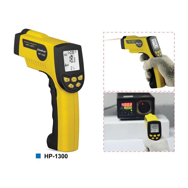 Image 2 - HoldPeak HP 1300 цифровой лазерный инфракрасный термометр 50C ~  1300 ℃ температурный пистолет Termometro Pistola тестерholdpeak  hp-1300infrared thermometerdigital infrared thermometer -