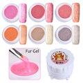 6 Colors/set Soak Off Fur Gel 5G Fur Effect Nail Art UV Gel Polish Manicure Nail Art Gel Varnish 1-6