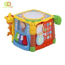 Hexahedral Box Music Building Blocks Baby Early Education Toys Chinese and English Bilingual Switchable недорго, оригинальная цена