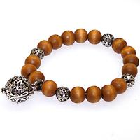 Beaded Wooden Bracelets Coffee Wooden Bracelets With Brass Charms Openable Charm With Strand Bracelet Smell Beads
