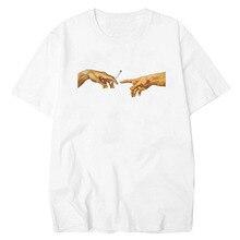 Camiseta con estampado divertido de LettBao Michael Ángel para hombre Harajuku camiseta de hombre Hip Hop 100% algodón Streetwear camiseta Homme Tops