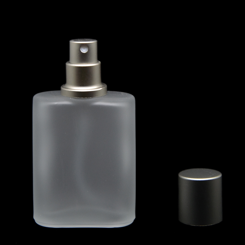 Frete grátis 30 ml Cinza Cap Estilo Plano Fosco Semi Limpar Vidro Spray Frasco de Perfume de Vidro Atomizador