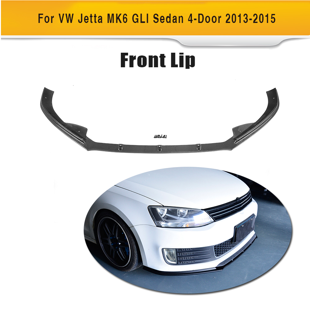 De fibra de carbono frente lip spoiler para volkswagen vw jetta gli mk6 frp coche sed n