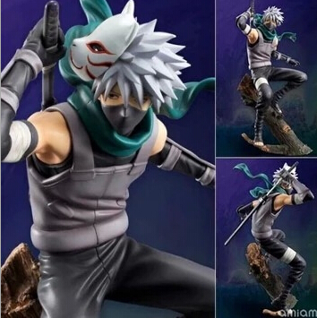 24cm Naruto Hatake Kakashi Action Figures Anime PVC brinquedos Collection Figures toys AnnO00615N 21cm naruto hatake kakashi pvc action figure the dark kakashi toy naruto figure toys furnishing articles gifts x231