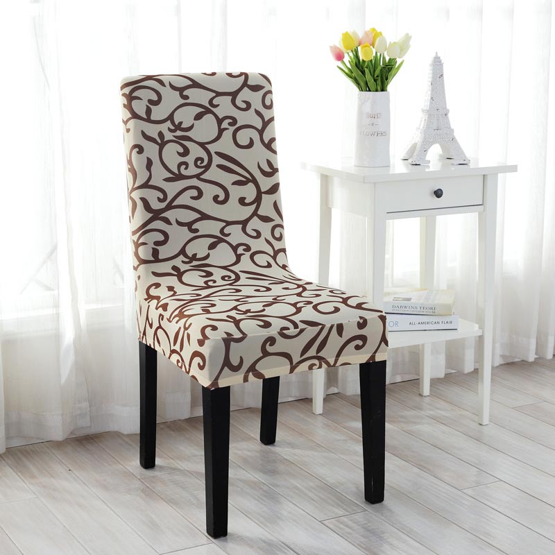 High Quality 4Colors Stretch Short Removable Dining Room Office Stool Chair Cover SlipcoversChina