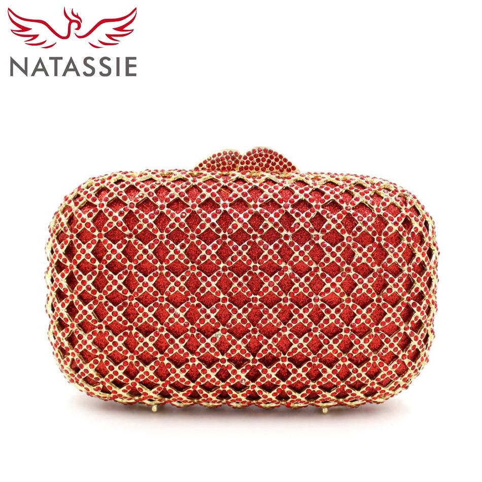 ФОТО NATASSIE Fashion Crystal Clutch Evening Bag Colourful Diamonds Party Bag With Chain Lady Wedding Purses L1069