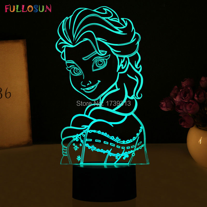 Colorful LED 3D Table Lamp 3D Kids Room Decorations Night Lights as Holiday Novelty Gifts