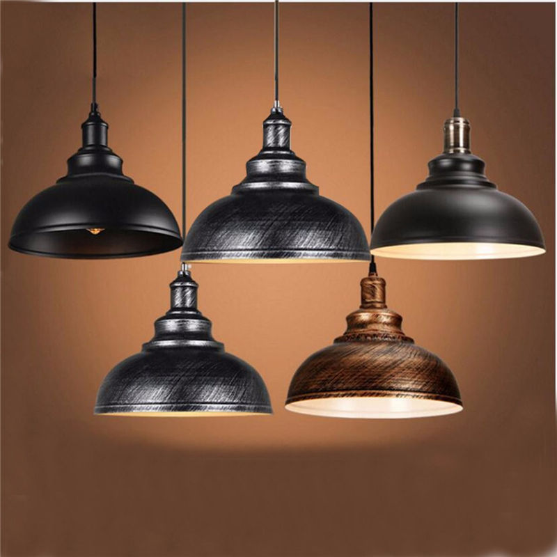 Vintage Edison Light Cover Lampshade E27 Industrial Retro Lamp Base Loft Iron Pendant Lights Holder Lighting Fixture loft vintage industrial retro pendant lamp edison light e27 holder iron restaurant bar counter brief hanging lamp wpl098