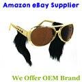 Comercio al por mayor Marco de Oro Clásico Elvis Elvis Gafas De Sol Gafas con Patillas 50 UNIDS/LOTE Envío Gratis