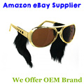 Wholesale Gold Frame Classic Elvis Glasses with Sideburns  Elvis Sunglasses 50 PCS/LOT Free Shipping