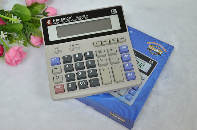 Jewelry Essential Office Supplies Large Solar Calculator Computer Keys Screen