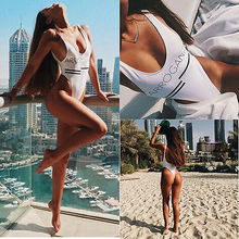 ITFABS Womens Beach One Piece Swimsuit Monokini Push Up Bikini Swimwear Beach Tankini Bathing Suit Beachwear