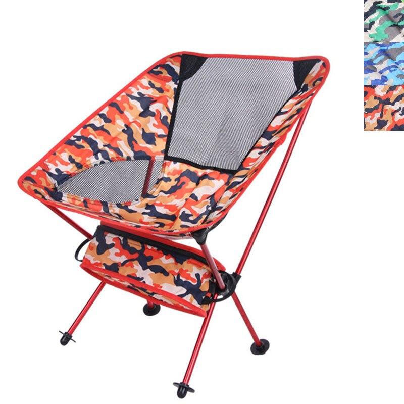 Camo Camping Fishing Beach Chair Portable Lightweight