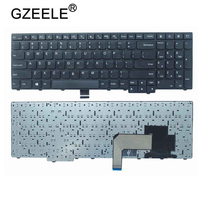GZEELE New US Keyboard For Lenovo E531 L540 W540 T540 T540P E540 W550 W541 No Backlight BLACK FOR IBM FOR Thinkpad E531 Series