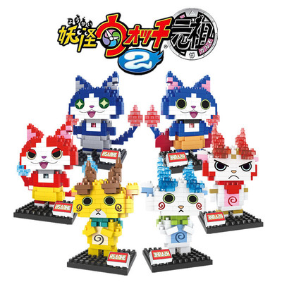 Yo kai Watch Bricks block mini Bricks Japan Anime Yokai Watch Baby Classic Toys Integral Card