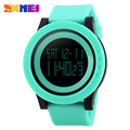 2017 Skmei Men Sport Digital Watch Fashion Silicone Waterproof LED Wrist Big Dial Green Watch For Men Clock relogio masculino