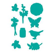 YaMinSanNiO Plant and Flower Metal Cutting Dies for Craft Scrapbooking DIY Album Embossing Die Cut Bird Butterfly