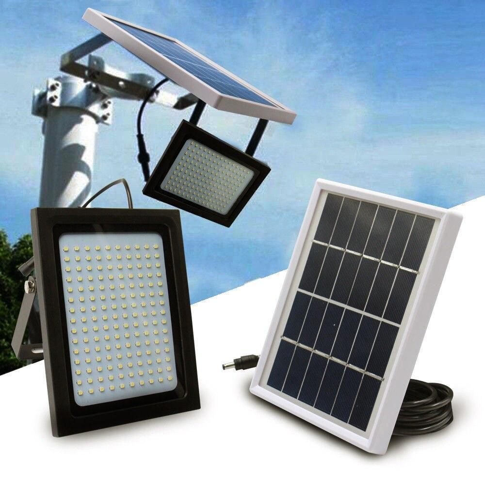 150 светодиодный солнечный Мощность прожектор Сенсор движение активированный открытый сад путь лампы для сада гараж газон бассейн огражден...