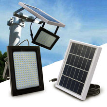 150 LED Solar Power Flood Light Sensor Motion Activated Outdoor Garden Path Lamp for Garage Lawn Pool Fencing Pathway