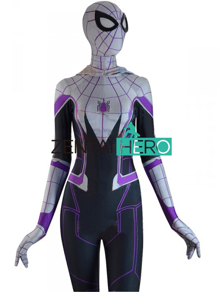 ZentaiHero 3D Printed Homecoming Spider-Gwen Zentai Spiderman Costume Gwen Stacy Spider-man Cosplay Halloween Female Spider Suit