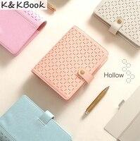 Original Macaron Hollow Leather Spiral Notebooks Stationery Fine Personal Agenda Organizer Binder Diary Weekly Planner Gift