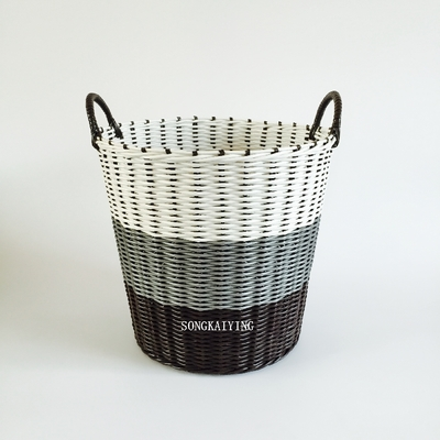 dirty basket large plastic woven laundry basket toy basket pure hand woven not afraid of. Black Bedroom Furniture Sets. Home Design Ideas
