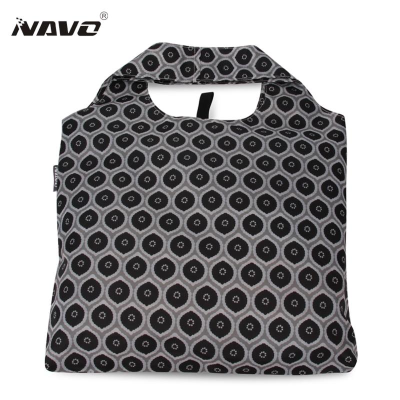 NAVO 1 Piece fabric bag Polyester Shopping Bag 2018 Foldable Reusable Grocery Tote Sac opvouwbare tas folding shopper bag bolsos