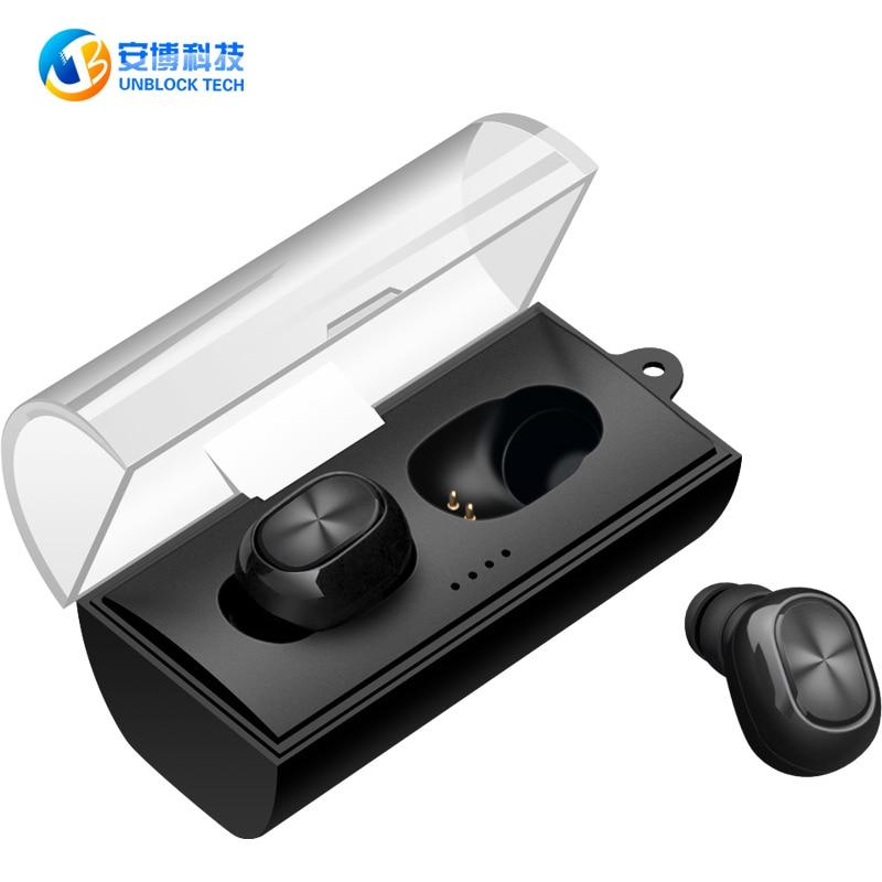 UNBLOCK TECH W320 Portable True Wireless Earbuds Mini Headphone Bluetooth 4.2 Earphone S ...