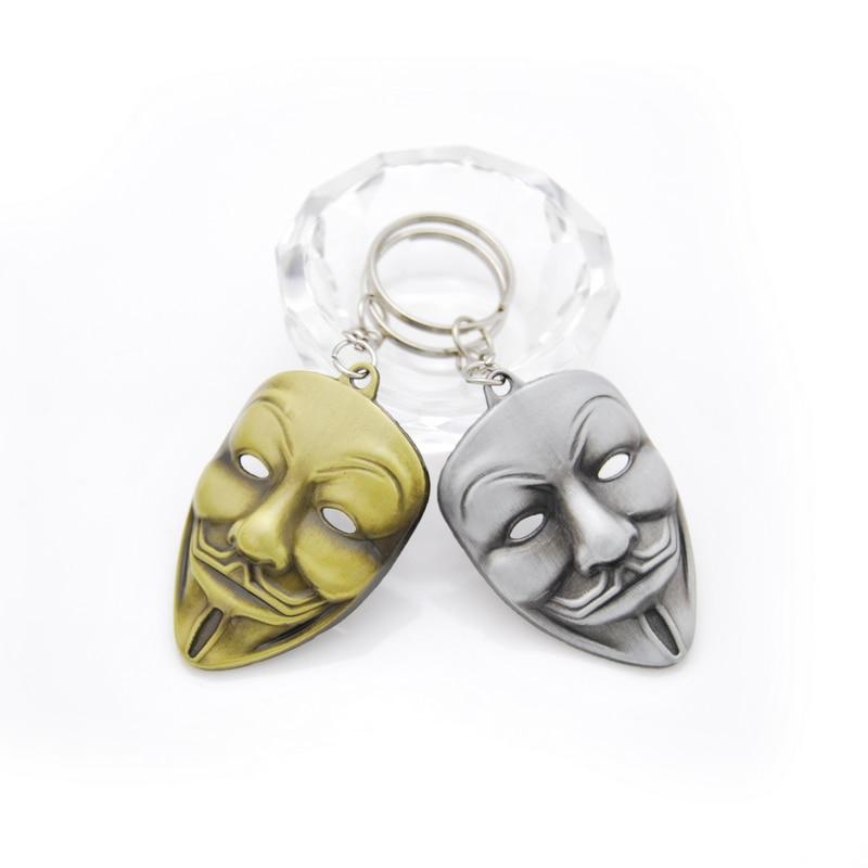 Superhero Batman Keychain Men Trinket Marvel Spiderman Key Chain V for Vendetta Iron Man Key Ring Holder Jewelry Gift Souvenirs
