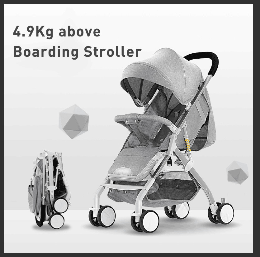 Lightweight Stroller Portable Baby Carriage Folding Can Sit Can Lie Ultra-light On The Airplane Children Kid Pram Free Shipping
