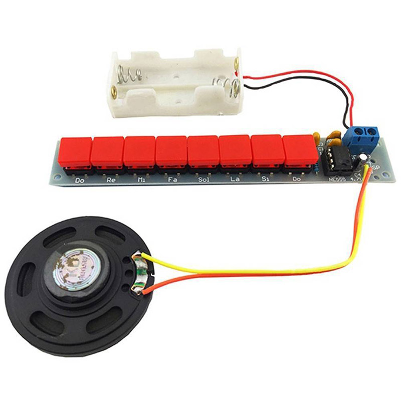 New Hot 1set Electronics Piano Module DIY Kit NE555 Electronics Piano Component