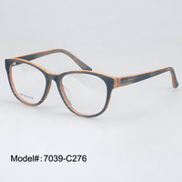 7039 New Material And Good Quality Acetate Imitation Wood Eyeglasses Frame