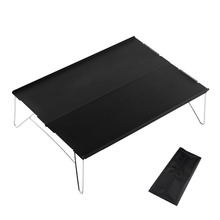 Multipurpose Square Folding Tables by 35*25*11cm with Carry Bag Black Outdoor Tables for Camping, Hiking, Picnic, Fishing, BBQ