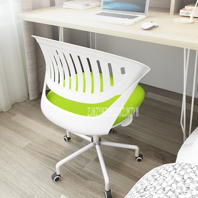 S02Y001-1 Small Home Computer Chair Lift Chair Mesh Cloth Steel Feet Office Adjustable Chair 360 Degrees Rotation Gaming Chair 1