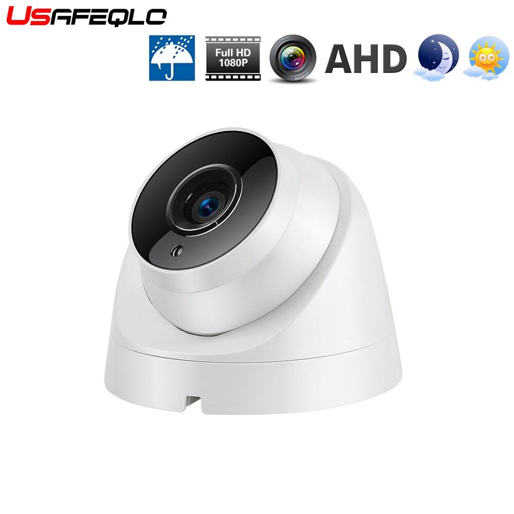 Plástico mini câmera dome ir 3 leds array placa câmera de segurança vídeo cctv interno ahd 720 p 1080 p ahd câmera 2.8/3.6mm len IR-CUT