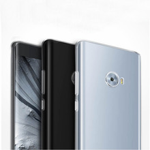 For 5.7 Xiaomi Mi Note 2 Note2 Dual 3D Curved Glass Snapdragon 821 Phone Case Cover UltrathinSoft TPU Clear Protective Cover