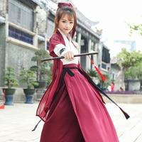 2018 New Hanfu Women Chinese Dress China Ancient Costume Traditional Hanfu Female Dress Girl Tang Suit