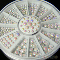24 Wheel 3Sizes Glitter 3D Nail Art Tip Rhinestone Decoration DIY Manicure