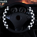 Fashion Box PU Leather Car Steering Wheel Covers 4 Styles non-slip Universal For 37-38CM Steering-wheel Car-covers Free Shipping