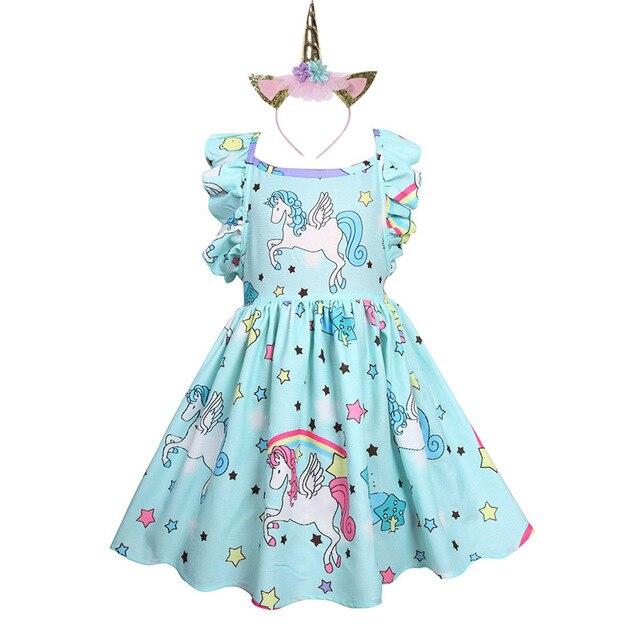 Unicorn Strappy Backless Dress and Headband