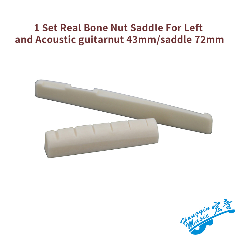 1 Set Guitarfamily Real Bone Folk Acoustic Guitar Bridge Pins Made In Korea 6 Pcs