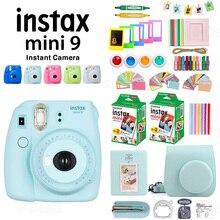 Fujifilm Instax Mini 9 камера+ 40 листов мини 9 мгновенная белая пленка фотобумага+ PU чехол+ альбом+ цветной фильтр+ крупным объективом+ подарочный набор